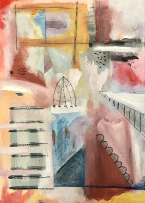 pintura-abstracta-original-noche-vieja-Dulce-hogar